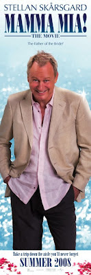 Stellan Skarsgard as one of the potential dad's in Mamma Mia - The Movie