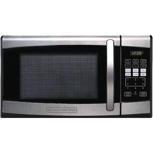 Black Decker Em925aze P 900 Watt Microwave Oven 0 9 Cu Ft Stainless Steel