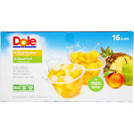 Dole Fruit Bowls , Diced Peaches, Mixed Fruit, Variety Pack - 16 pack, 4 oz cups