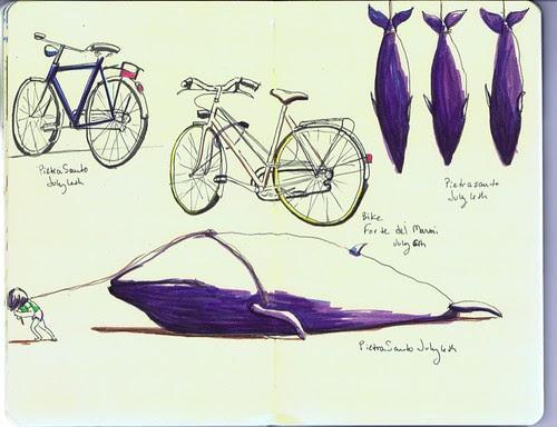 07.06.09 Italy bikes and Pietra Santo