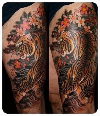 Tiger Half Sleeve By Claudia De Sabe Tattoonow