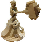 LEGO Marvel Spider-Man Sandman Minifigure [with Sandbase and Sand Mallet Loose]