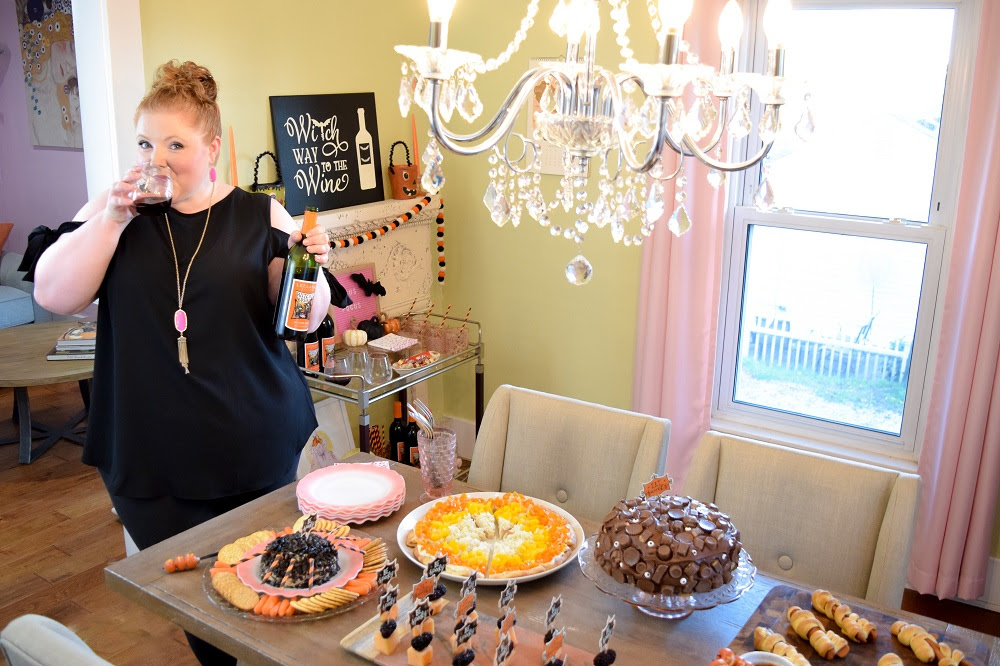 Kicking Off The Halloween Season With Witches Brew Wine From Leelanau Cellars In Omena Michigan Near Traverse City Featuring Party Food Ideas And Decor