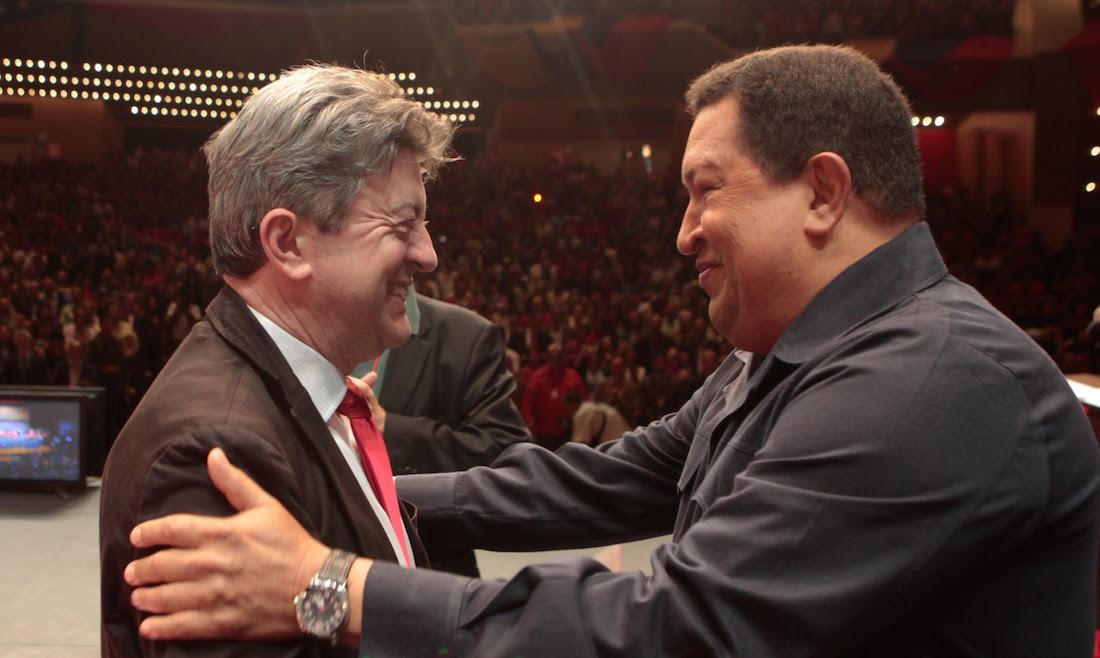 Resultado de imagen para MELENCHON Y CHAVEZ