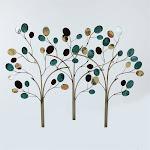 Luxen Home Metal Trees Wall Decor - WHA234