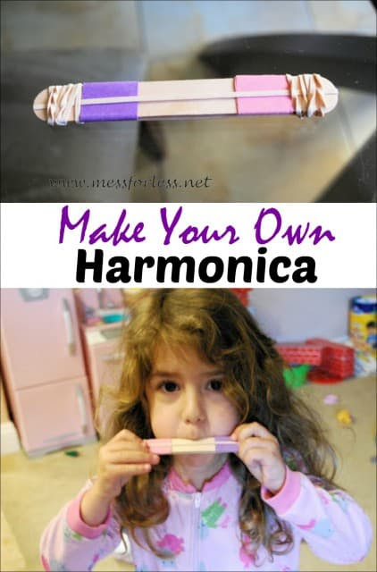 Making Music - Homemade Harmonica - Mess for Less