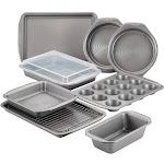 Circulon Nonstick Bakeware 10-Piece Bakeware Set, Gray