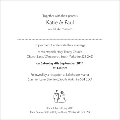 Quirky Wedding Invitation Wording