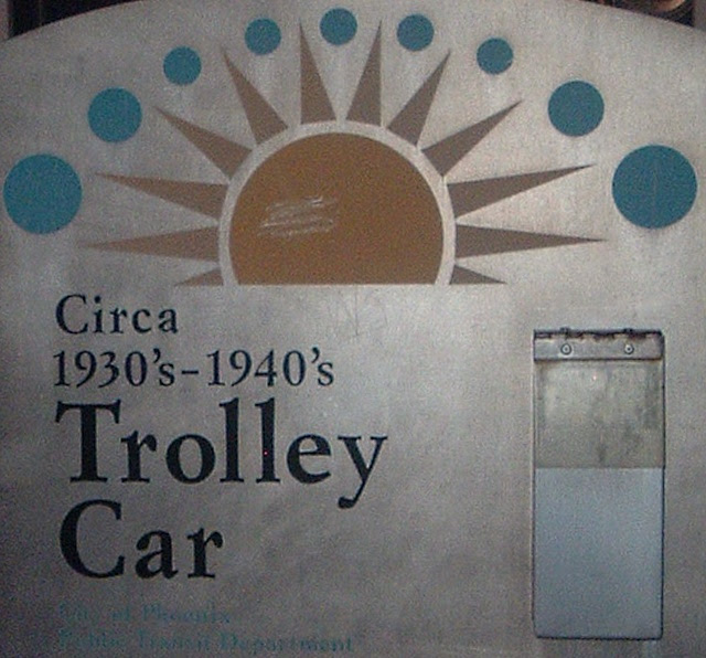 Phoenix Trolley Car Sign
