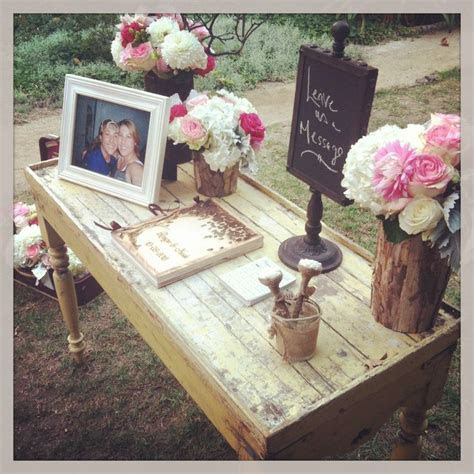 Guest Book Table set up. #nozza   NOZZA Events   Pinterest