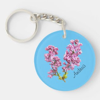 Keychain - Lilac blossoms