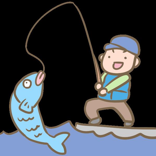 釣りのイラスト かわいいフリー素材が無料のイラストレイン