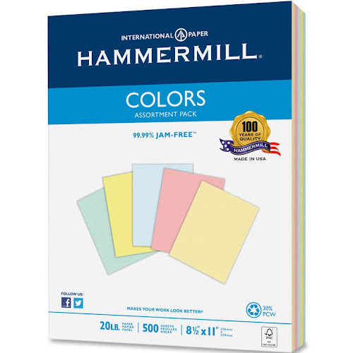 Hammermill Colors Laser Inkjet Print Colored Paper
