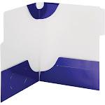 Smead 87964 Blue SuperTab Two-Pocket File Folder, Blue - 5 pack