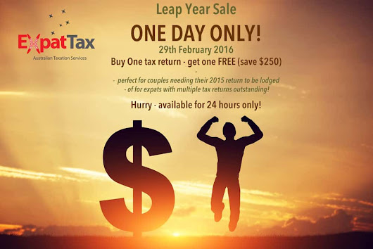 Expat Tax Returns - Leap Year special - 24hrs only