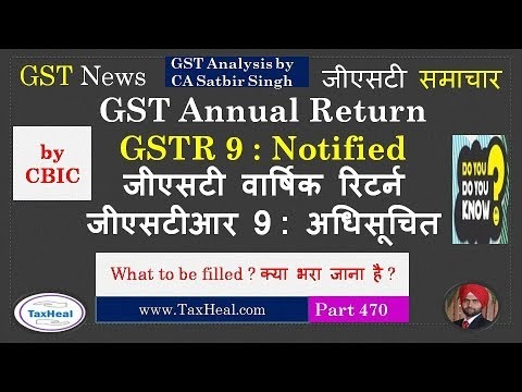 Goods and Service Tax in India: GSTR 9 in Excel / PDF : GST Annual