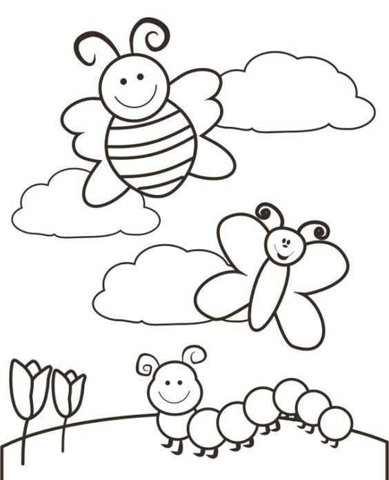 Ilkbahar Boyama Sayfaları 11 Okul öncesi Etkinlik Faliyetleri
