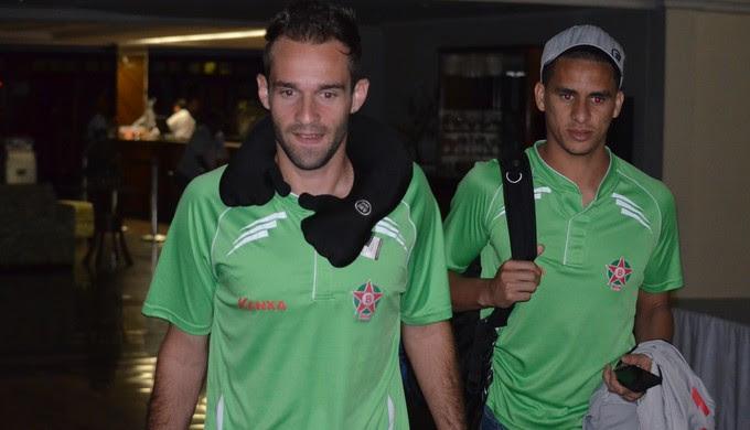 Thiago Carvalho, capitão do Boa, ao lado do zagueiro Lula (Foto: Tiago Campos)
