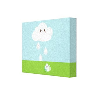 Happy Cloud Canvas Print wrappedcanvas