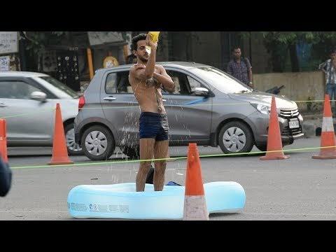 Taking Bath In Public Prank   Prank In India By Vinay Thakur   AVRprankTV