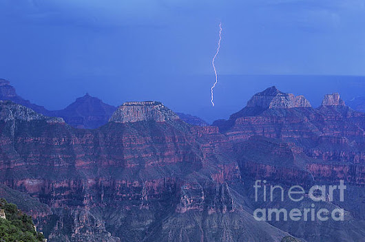 Lightning Storm North Rim Grand Canyon National Park by Dave Welling