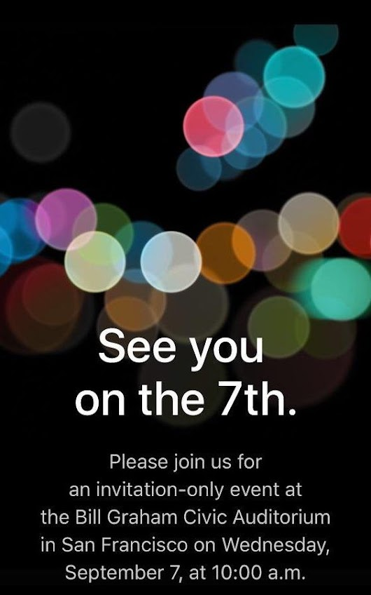 iPhone 7 will be unveiled 7th September