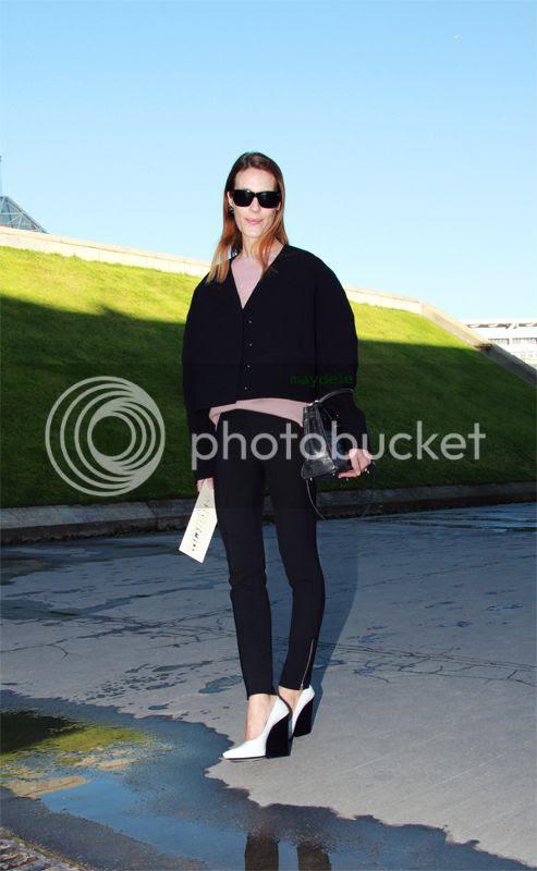 Vanessa Traina Paris september 2012 wearing Balenciaga, Celine shoes and a Hermès Kelly bag