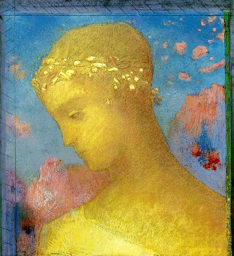 Beatrice, 1885, Odilon Redon,  Pastel over charcoal, 34.5 x 30 cm