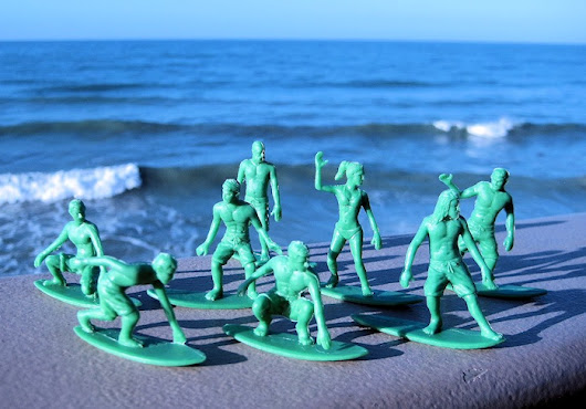 "The ""Original Toy Boarders"" go surfing"