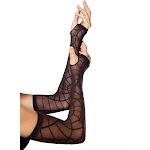 Black Sheer Spiderweb Arm Warmers
