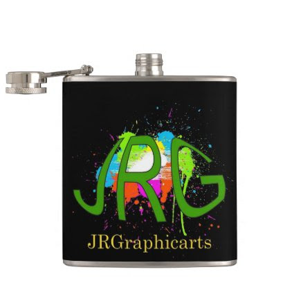 JRGraphicarts Hip Flask