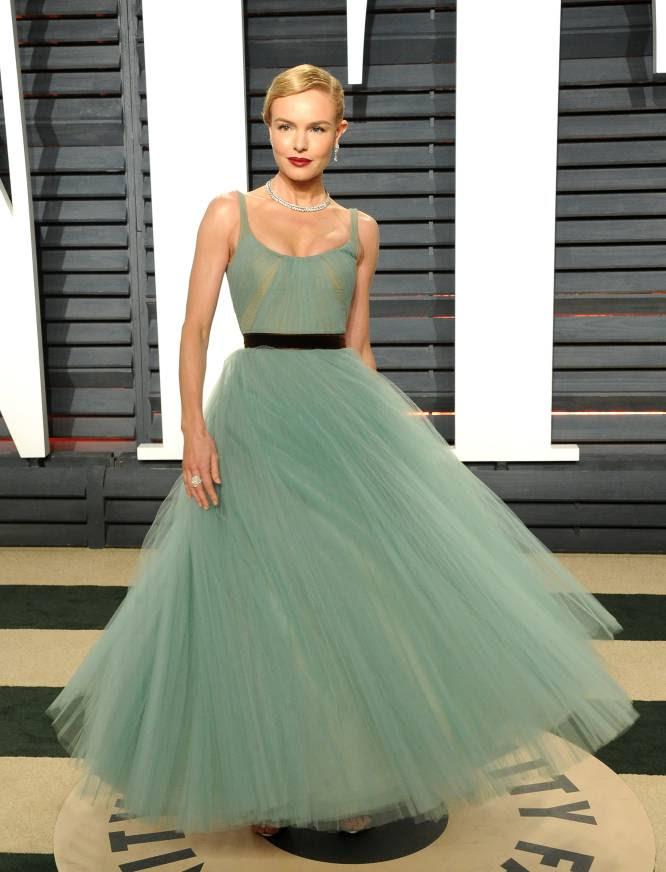 La actriz Kate Bosworth, vestida como una bailarina, lució este delicado diseño de J.Mendel.