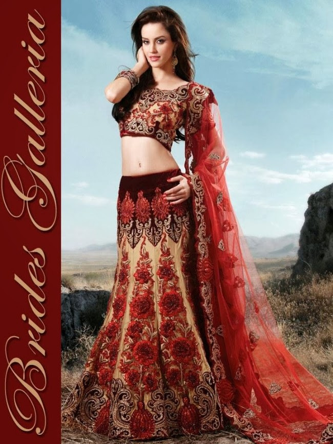 Indian-Bridal-Wedding-Lehangas-Velvet-Embroidered-Blouse-Fish-Cut-Lehenga-by-Brides-Galleria-10