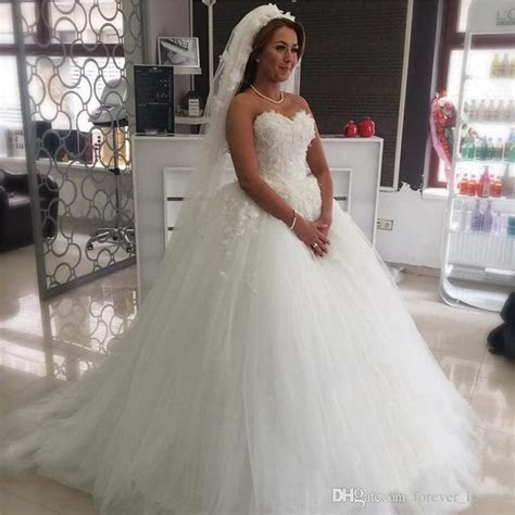Princess Plus Size Wedding Dresses 2017 Ball Gown