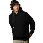 Hanes Men's Ecosmart Fleece Pullover Hoodie with Front Pocket, Black
