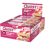 Quest Nutrition Protein Bar - White Chocolate Raspberry (12 Bars) - Low Carb Bars
