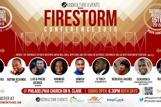 CLICK HERE to support GodKulture FireStorm Conference 2015