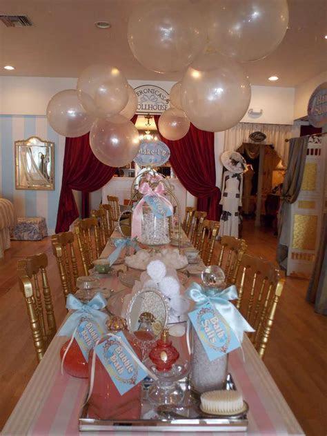 spa  tea time birthday party birthday party ideas