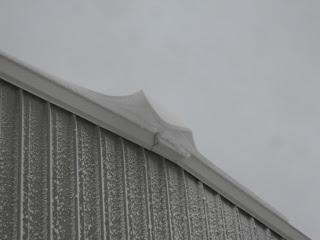 Wave Snow Drift Off the Barn
