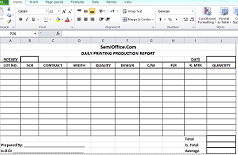 Daily Production Report Format in Excel Free Download | SemiOffice.Com