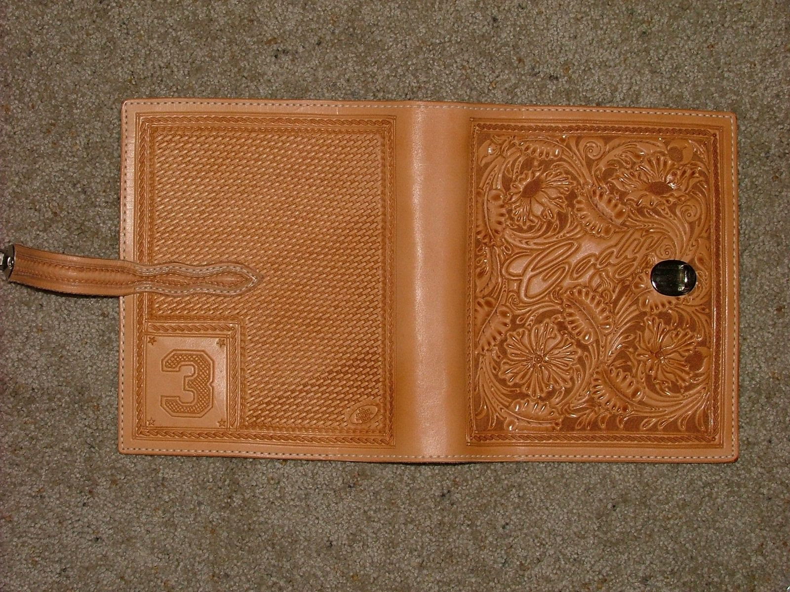 Custom Carved Leather Day Planner by Deana