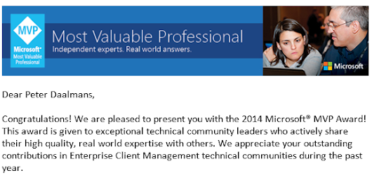 Re-awarded as an Enterprise Client Management Microsoft MVP - Configuration Manager Blog