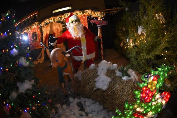 A Zombie Santa is pictured Death Yard Haunted Attraction in Hendersonville, Tennessee December 10, 2014.   REUTERS-Harrison McClary