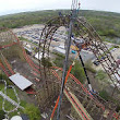 Six Flags Great America tops off the world's largest wooden coaster