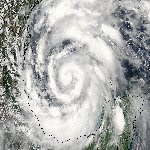 Satellite picture of Hurricane Alex