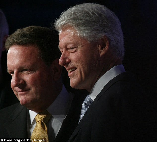 The women alleged the former president assaulted them in the early 2000s, during the time Clinton was working with playboy billionaire investor Ron Burkle (pictured together in 2006)