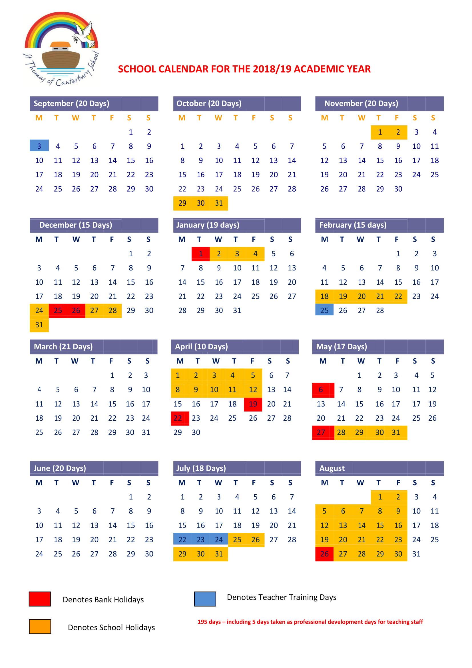 Term Dates - St Thom