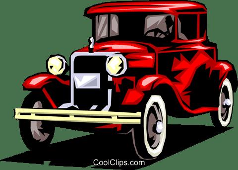 クラシックカー ロイヤリティ無料ベクタークリップアートイラスト