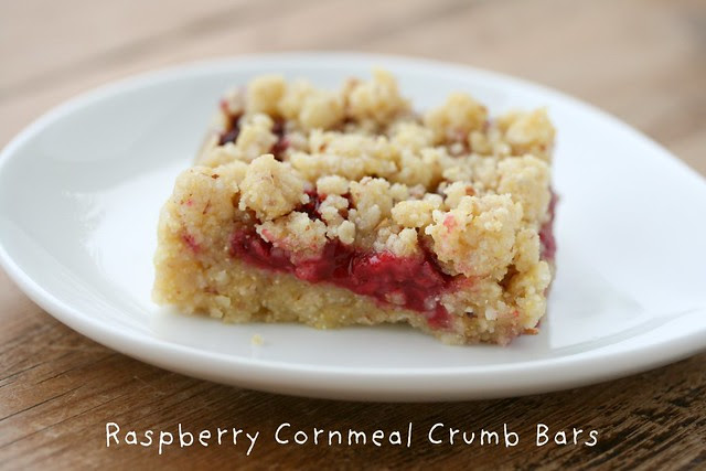 Raspberry Cornmeal Crumb Bars
