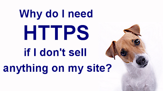 Why do I need HTTPS if I don't sell anything on my site? - BlogAid